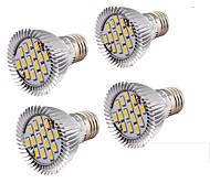 7W E26/E27 Focos LED MR16 15 SMD 5630 650 lm Blanco Cálido Decorativa V 4 piezas