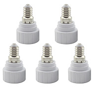 E14 to GU10 Base LED Halogen Light Lamp Bulb Adapter Converter Base Socket (5 Pieces)
