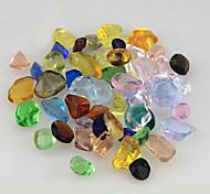 Aquarium Decoration Stones Glass Random Color 0.35kg Set