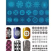 1pcs Geometric Pattern Manicure Printing Plate