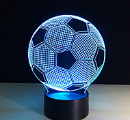New Creative Football Shape 3D Illusion Night Light 7Colors Changeable For Bedroom Decoration