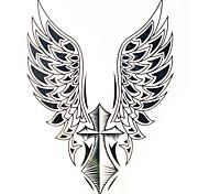 transferência de água 1pc imagem tatuagem grandes adesivos homem de volta tatuagem wing + cruz