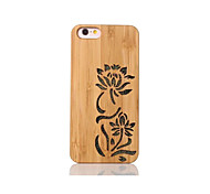 Para Antigolpes En Relieve Diseños Funda Cubierta Trasera Funda Flor Dura Bambú para Apple iPhone 6s/6