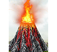 Aquarium Decoration Rocks Artificial Volcano Resin Black