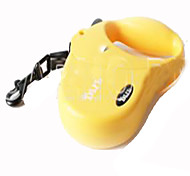Dog Hands Free Leash Adjustable/Retractable Solid Yellow Plastic