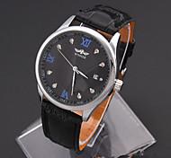 Men's Women's Unisex Sport Watch Fashion Watch Wrist watch Mechanical Watch Simulated Diamond Watch Automatic self-winding Genuine Leather