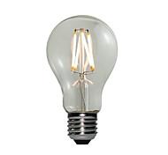 4W E27 Bombillas LED de Globo A60(A19) 4 COB 360 lm Blanco Cálido Regulable AC 100-240 V 1 pieza