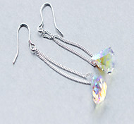 Drop Earrings Crystal Sterling Silver Silver Jewelry Daily Casual 1 pair