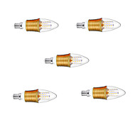 5pcs Gold Shell 9W E14 SDM2835 45LED Warm Color Screw Thread Led Candle Light  Led Bulbs Chandelier Lamps AC220-240V