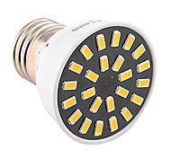 5W E26/E27 Spot LED MR16 24 SMD 5733 400-500 lm Blanc Chaud Blanc Froid Décorative AC 100-240 AC 110-130 V 1 pièce