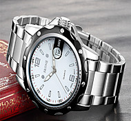 Men's Fashion Watch Quartz Stainless Steel Band Charm Silver