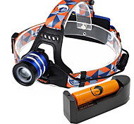 U'king ZQ-G70000DBlue CREE T6 LED 2000LM 3Mode Adjustable Focus Headlamp Bike Light Kit for Camping/Hiking/Caving Everyday Use Cycling