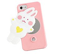 For Shockproof Rabbit Pattern Case With Mirror Back Cover Case Soft Silicone for Apple iPhone 7 Plus iPhone 7 iPhone 6s Plus/6 Plus iPhone 6s/6