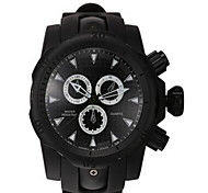 Sport Watch Quartz / Silicone Band Casual Black Brand