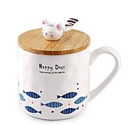 Мультяшная тематика Стаканы, 400 ml Сжимая Керамика Телесный Сок Кофейные чашки