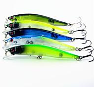 5 pcs Minnow Minnow Random Colors g/Ounce mm inch,Plastic General Fishing
