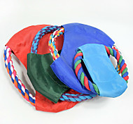 Cat Toy Dog Toy Pet Toys Chew Toy Interactive Flying Disc Rope Durable Halloween Woven Dog Random Color Cotton