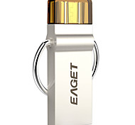 Eaget 2 en 1 32gb usb 3.0 flash de plata unidad OTG