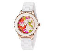Fashion Watch Quartz Alloy Band Casual White Brown White Fuchsia