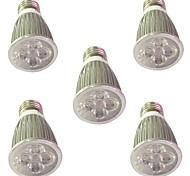5W E14 E27 Luces LED para Crecimiento Vegetal 5 LED de Alta Potencia 450-550 lm Rojo Azul V 5 piezas