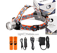 U'King® ZQ-X830S#-EU CREE XML-T6 LED 2000LM Zoomable 180 Rotate 3Modes Headlamp Bike Light Kits with Rear Safety LED