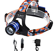 U'king ZQ-G70000BBlue CREE T6 LED 2000LM 3Mode Adjustable Focus Headlamp Bike Light for Camping/Hiking/Caving Everyday Use Cycling