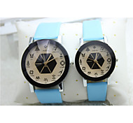 Fashion Watch Quartz Silicone Band Black Blue Red