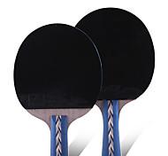 5 Estrellas Tabla raquetas de tenis Ping Pang Goma Mango Corto Las espinillas Interior Rendimiento Deportes de ocio