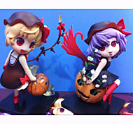 Anime Action Figures Inspired by TouHou Project Flandre Scarlet PVC 12 CM Model Toys Doll Toy 1set