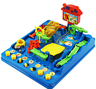 3D Educational Toys For Children Maze Pass Toys Leisure Hobby Toys Novelty Square ABS Rainbow