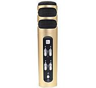 no Alámbrico Micrófono de Karaoke 3.5mm Oro