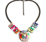 Women's Pendant Necklaces Jewelry Gemstone Alloy Jewelry Dangling Style Fashion Adorable Personalized Rainbow JewelryParty Special