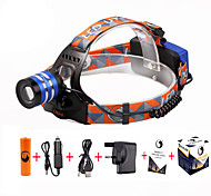 U'king ZQ-G70000Blue#-UK CREE T6 LED 2000LM 3Mode Adjustable Focus Headlamp Bike Light Kit for Camping/Hiking/Caving Everyday Use Cycling