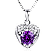 Pendants Crystal Crystal Imitation Diamond Austria Crystal Basic Love Heart Jewelry For Daily Casual
