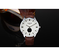 Sport Watch Fashion Watch Quartz Leather Band Black Brown Brand