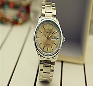 Fashion Watch Quartz Stainless Steel Band Silver