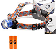 U'King® ZQ-X830BL#4 CREE XML-T6 LED 2000LM Zoomable 180 Rotate 3Modes Headlamp Bike Light Kits with Rear Safety LED
