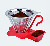 ml  Stainless Steel Plastic Coffee Filter , 4 cups Drip Coffee Maker Reusable