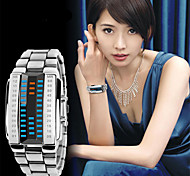 Unisex Fashion Watch Digital Watch Quartz Digital Alloy Band Casual Black Silver