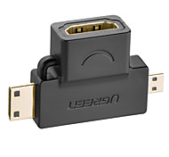 UGREEN® 3 in 1 Mini HDMI Male Micro HDMI Male to HDMI Female Converter adapter for tablet pc tv mobile phone HDMI adapter