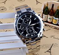 Муж. Нарядные часы Модные часы Кварцевый Нержавеющая сталь Группа С подвесками Повседневная Серебристый металл