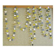 raylinedo® 1 Stück 4 Meter gelb grau und weiß Papiergirlande für 5 Form Dekoration Herz Weihnachtsfest-Hochzeit Geburtstag * 5cm