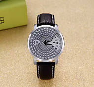 Wrist watch Quartz Leather Band Black
