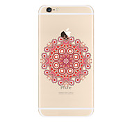 For Transparent Pattern Case Mandala Soft TPU for Apple iPhone 7 Plus iPhone 7 iPhone  6 iPhone 5 SE 5C iphone 4