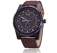 Sport Watch Fashion Watch Quartz Fabric Band Black Brown