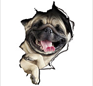 Toilet Sticker 3D Animal Pet Dog Wall Sticker Decorative Bathroom Wall Stickers Personality Home Decor