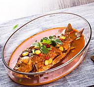 caixa de peixe almoço de vidro