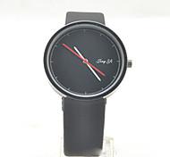 Unisex Fashion Watch Quartz Leather Band Black White White Black Black/Silver