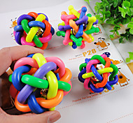 Cat Toy Dog Toy Pet Toys Ball Chew Toy Interactive Squeaking Toy Teeth Cleaning ToySqueak / Squeaking Durable Elastic Bell Candy Cartoon