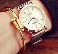 Fashion Watch Quartz Alloy Band Casual Gold